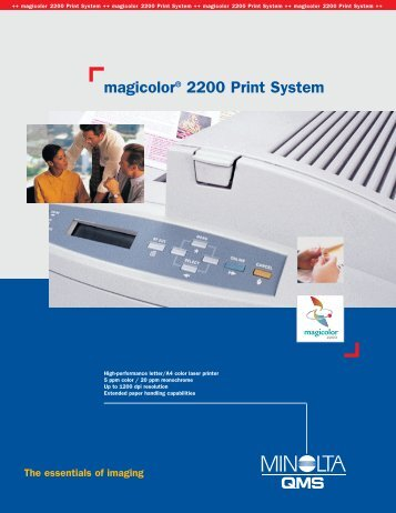magicolor® 2200 Print System - A Matter of Fax