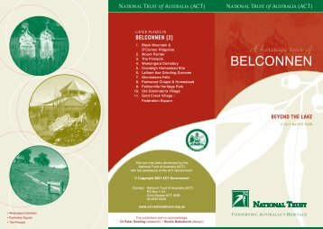 NT- BELCONNEN 2 brochure [10-2006] - National Trust of Australia