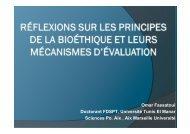 Réflexions sur les principes de la bioéthique et ... - Sciences Po Aix