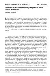 Response to the Responses by Mogenson, Miller, Beebe, and Pulver