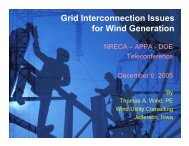 Grid Interconnection Issues for Wind Generation - Utility Variable ...