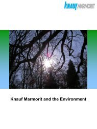 Environmental Literature - Knauf Marmorit UK GmbH