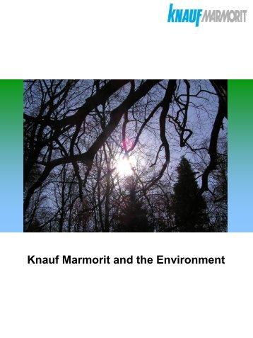 Environmental Literature - Knauf Marmorit UK GmbH