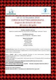 10-11-12 Dicembre 2010 CORSO DI ... - Seltravet