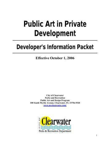 Public Art in Private Development - North Carolina Arts Council