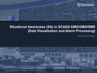 Situational Awareness (SA) in SCADA EMS/GMS/DMS (Data ...