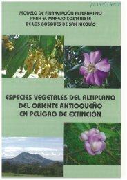 especies ve(.!etales del altiplano del oriente antioqueno en ... - ITTO