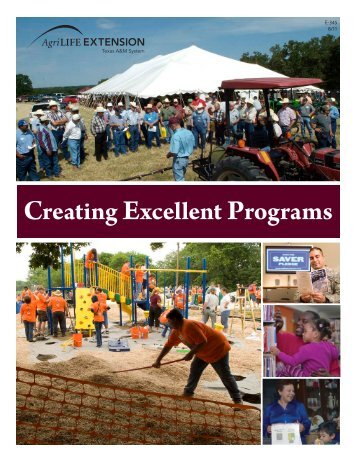 Creating Excellent Programs - Texas A&M AgriLife - Texas A&M ...
