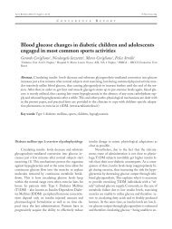 Blood glucose changes in diabetic children and adolescents ...