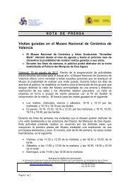 NOTADEPRENSA Visitas guiadas en el Museo Nacional de ...