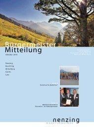 Bürgermeistermitteilung 10/03 - Marktgemeinde Nenzing