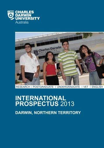 INTERNATIONAL PROSPECTUS 2013 - Charles Darwin University