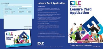 Leisure Card Application - East Dunbartonshire Leisure & Culture ...