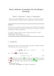 Exact solutions of equations for the Burgers hierarchy