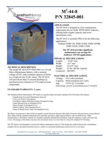 M -44-8 P/N 32845-001 - MarathonNorco Aerospace