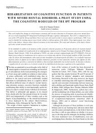 rehabilitation of cognitive function in patients with severe mental ...