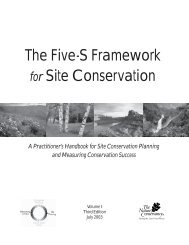 The 5-S Framework for Site Conservation - Ecosystem Management