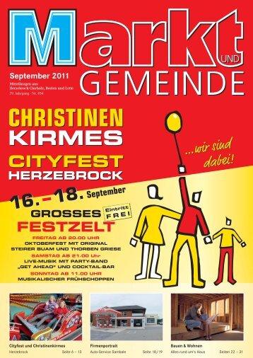 CHRISTINEN KIRMES 2011 HERZEBROCK 16. bis 18. Sept.