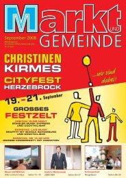 CHRISTINEN KIRMES 2008 HERZEBROCK 19. bis 21. Sept.