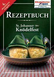Knödelfest Rezeptbuch 2013 - Kitzbüheler Alpen