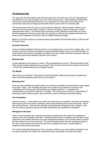 The Business Plan - Nanofolio