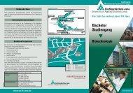 Flyer Bachelor Biotechnologie - Fachbereich Medizintechnik und ...