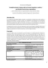 Complicaciones crónicas de la cirrosis hepática: ascitis y peritonitis ...