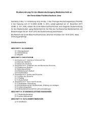 Studienordnung - Fachbereich Medizintechnik und Biotechnologie