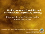 HIPAA Security Training - Missouri Department of Mental Health