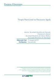Terapia Nutricional na Pancreatite Aguda - Projeto Diretrizes