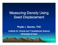 Measuring Density Using Seed Displacement