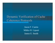 Dynamic Verification of Cache Coherence Protocols - PHARM