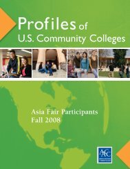 2008asiafairbrochure - American Association of Community Colleges