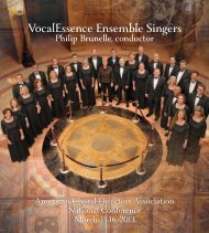 ACDA Dallas Concert Program - VocalEssence