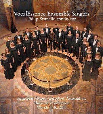 ACDA Dallas Concert Program - VocalEssence