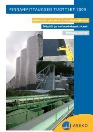 Pinnanmittaukset tuotteet 2009 pdf - Aseko Oy