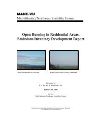 Open Burning in Residential Areas, Emissions Inventory ... - MARAMA