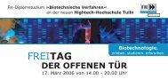Einladung zur Veranstaltung - Technopark Tulln