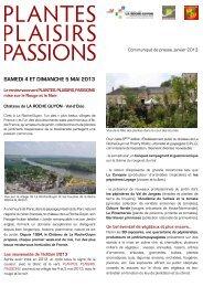SAMEDI 4 ET DIMANCHE 5 MAI 2013 - Château de La Roche-Guyon