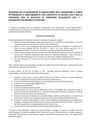 selezione per la formazione di graduatoria per l'assunzione a ... - Atap