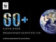 Slukk lyset for klimaet 23. mars 2013 kl. 20.30 – 21.30 ... - WWF