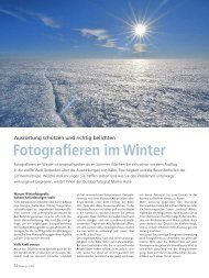 Fotografieren im Winter - Martin Hülle