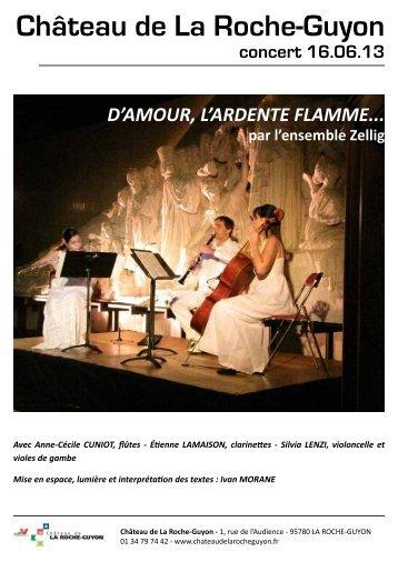 François DEVIENNE – Trio n°3 opus 61 - Château de la Roche-Guyon