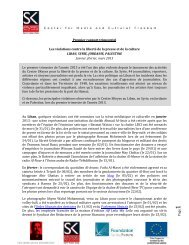 P age1 Premier rapport trimestriel Les violations contre la liberté de ...