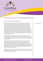 Information paper on neurological physiotherapy. - Cerebra