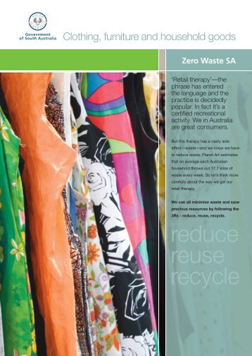 Reduce Reuse Recycle - Zero Waste SA - SA.Gov.au