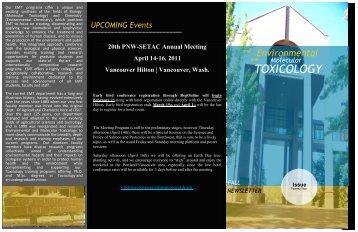 Issue 22 - Environmental & Molecular Toxicology - Oregon State ...