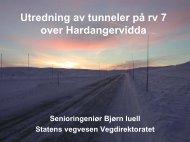 Utredning av tunneler på rv 7 over Hardangervidda - WWF