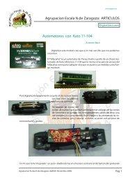 ARTICULOS Automotores con Kato 11-104 - ( Escala N) Zaragoza