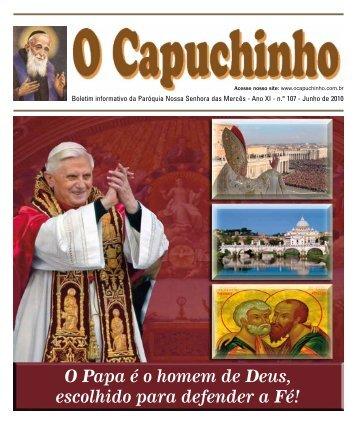 """Jornal """"O Capuchinho"""" - julho de 2010 - Paróquia Nossa Senhora ..."""